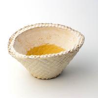 陶器製 多肉植物の欲しがる植木鉢 CCc 曲-4037イエロー