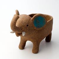 泰木窯 陶器製 ゾウ鉢#6