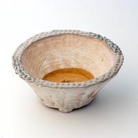 陶器製 多肉植物の欲しがる植木鉢 MMc-3891ブルーグリーン