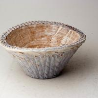 陶器製 多肉植物の欲しがる植木鉢 CCc 曲-3101ブルー