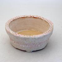陶器製 多肉植物の欲しがる植木鉢 AQSScd -8697ピンク