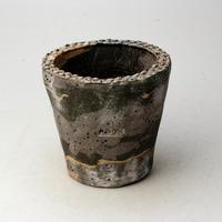 陶器製(2号ポット相当) 植木鉢 AAMcミカゲ-  2065(グリーン)