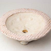 陶器製 多肉植物の欲しがる植木鉢 UFcd-2807ピンク