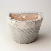 陶器製 多肉植物の欲しがる植木鉢 HPc-2188ブルーグリーン
