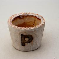 陶器製(2号ポット相当)多肉植物の欲しがる植木鉢 PSc-8658ピンク