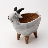 泰木窯 陶器製 ヤギ鉢 210216