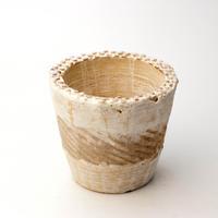 陶器製(2.5号ポット相当)多肉植物の欲しがる植木鉢 NSSc-4074ブラウン