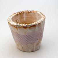 陶器製(2.5号ポット相当)多肉植物の欲しがる植木鉢 NSSc-9186パープル