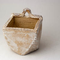 陶器製(3号ポット相当)多肉植物の欲しがる植木鉢 c-34-2830
