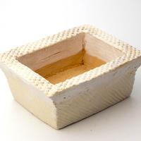 陶器製 多肉植物の欲しがる植木鉢 AES(II)cd-4697イエロー