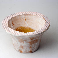 陶器製(2.5号ポット相当)多肉植物の欲しがる植木鉢 IBLcd-2856ピンク
