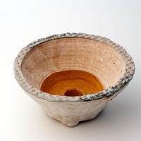 陶器製 多肉植物の欲しがる植木鉢 MMc-3890ブルーグリーン