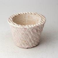 陶器製(2号ポット相当)多肉植物の欲しがる植木鉢  AASc-3346ピンク
