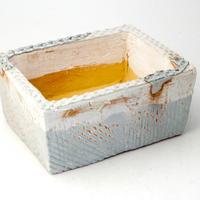 陶器製 多肉植物の欲しがる植木鉢 AES(II)c-2249ブルーグリーン
