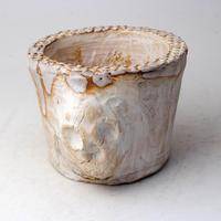 陶器製(3号ポット相当)多肉植物の欲しがる植木鉢 SSMdスカル-3017