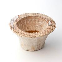陶器製 多肉植物の欲しがる植木鉢 IBScd-4498ブラウン