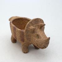 泰木窯 陶器製 トリケラトプス鉢 GKT-2010