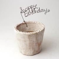 陶器製(2.5号ポット相当)多肉植物の欲しがる植木鉢 NSS+wireサビ-3436