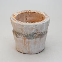 陶器製(2号ポット相当)多肉植物の欲しがる植木鉢 SSScd-9392 グリーン