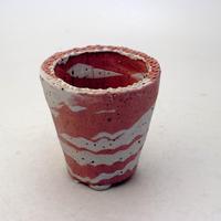 陶器製(2号ポット相当) 植木鉢 AAMcdミカゲ-8867ピンク
