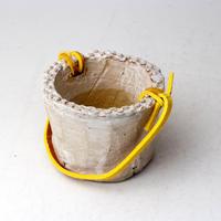 陶器製(2号ポット相当)多肉植物の欲しがる植木鉢 PR-+革ベルト- 3061