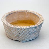 陶器製 多肉植物の欲しがる植木鉢 AQSScd -9401-ブルー