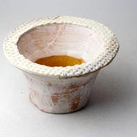陶器製(2.5号ポット相当)多肉植物の欲しがる植木鉢 IBLcd-2857イエロー