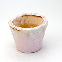 陶器製(2.5号ポット相当)多肉植物の欲しがる植木鉢 SMSc-406 ピンク