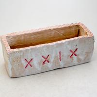 陶器製 多肉植物の欲しがる植木鉢 AEEcd-9410ピンク