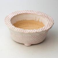 3/24〜4/30 緊急割引10%陶器製 多肉植物の欲しがる植木鉢 AQSScd - 9704ピンク