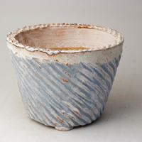 陶器製(3.5号ポット相当)多肉植物の欲しがる植木鉢 SMLc-2844ブルー