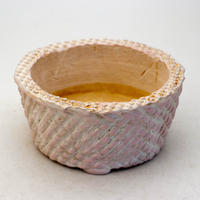 陶器製 多肉植物の欲しがる植木鉢 AQSScd -9400-ピンク