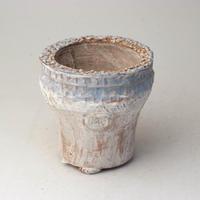 陶器製(2号ポット相当)多肉植物の欲しがる植木鉢 AAMcd-2755ブルー