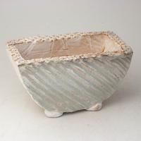 陶器製 多肉植物の欲しがる植木鉢 HMc-2711グリーン