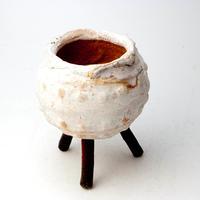 陶器製 多肉植物の欲しがる植木鉢 ERw-2133