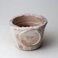 陶器製(2号ポット相当)多肉植物の欲しがる植木鉢  AAScd-2877パープル