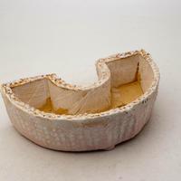 陶器製 多肉植物の欲しがる植木鉢 DCSc-8632ピンク