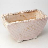 陶器製 多肉植物の欲しがる植木鉢 HMc- 1783ピンク