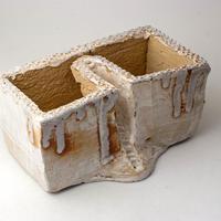 陶器製 多肉植物の欲しがる植木鉢 C-35-2836