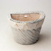 陶器製 多肉植物の欲しがる植木鉢 HPc-2190ブルーグリーン