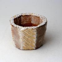 陶器製(2号ポット相当)多肉植物の欲しがる植木鉢 KESc-2876イエロー