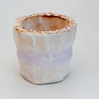 陶器製(2号ポット相当)多肉植物の欲しがる植木鉢 SSScd-9391 パープル