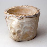 陶器製(3号ポット相当)多肉植物の欲しがる植木鉢 SSMdスカル-3016