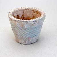 陶器製(2.5号ポット相当)多肉植物の欲しがる植木鉢 SMSc-9395 ブルー