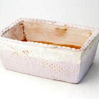 陶器製 多肉植物の欲しがる植木鉢 AES(Ⅰ)c-2255パープル
