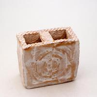 陶器製 多肉植物の欲しがる植木鉢 C-33-7281