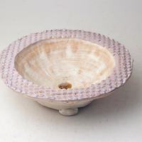 陶器製 多肉植物の欲しがる植木鉢 UFcd-2808パープル