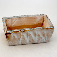 陶器製 多肉植物の欲しがる植木鉢 AES(Ⅰ)c-9402ブルーグリーン