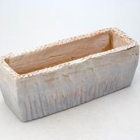 陶器製 多肉植物の欲しがる植木鉢 AEEc-7342ブルー