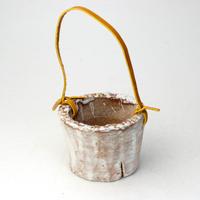 陶器製(2号ポット相当)多肉植物の欲しがる植木鉢 PR-+革ベルト-2302